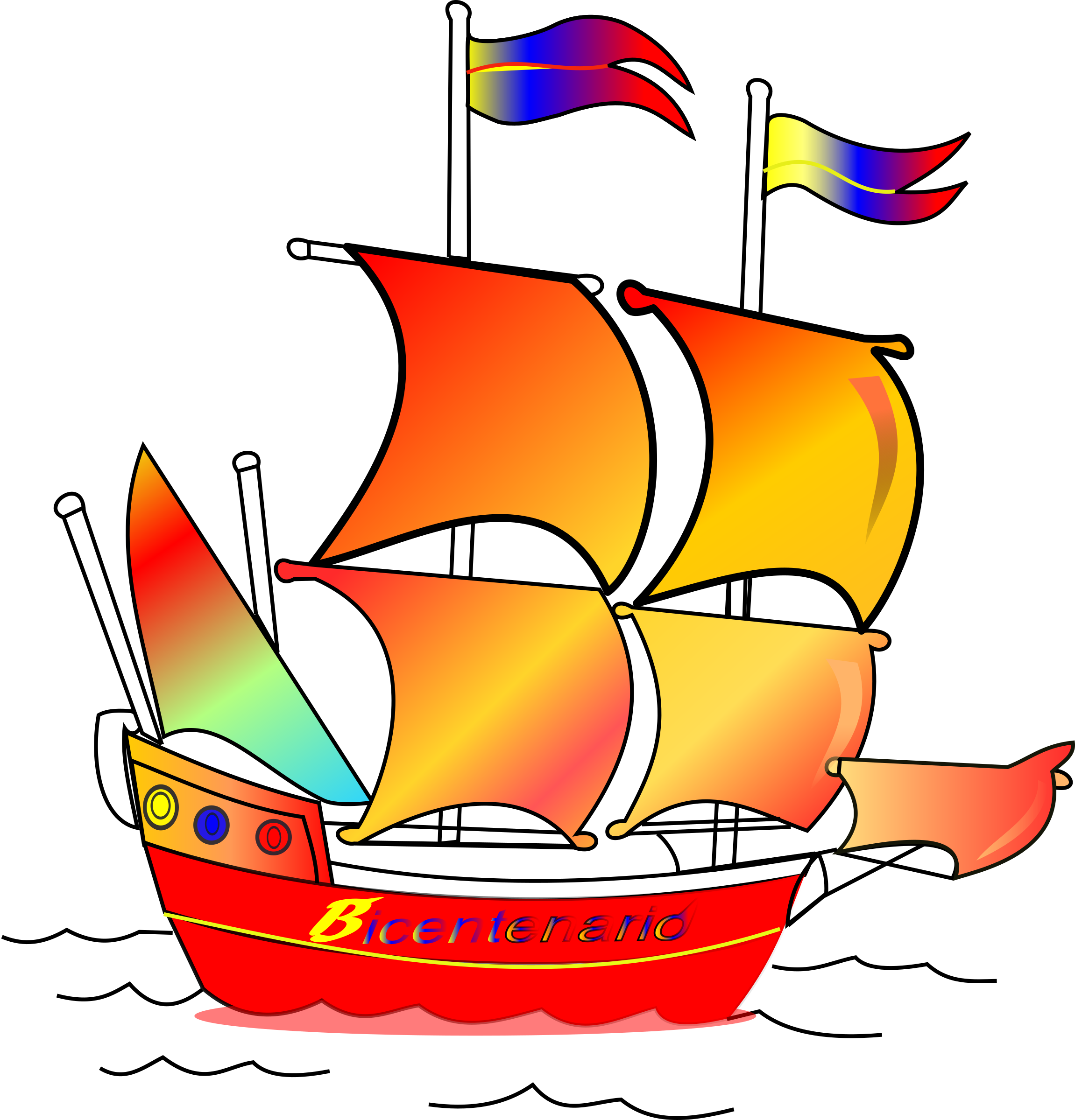 jpg royalty free stock Navy ships barko free. Yacht clipart red sailboat