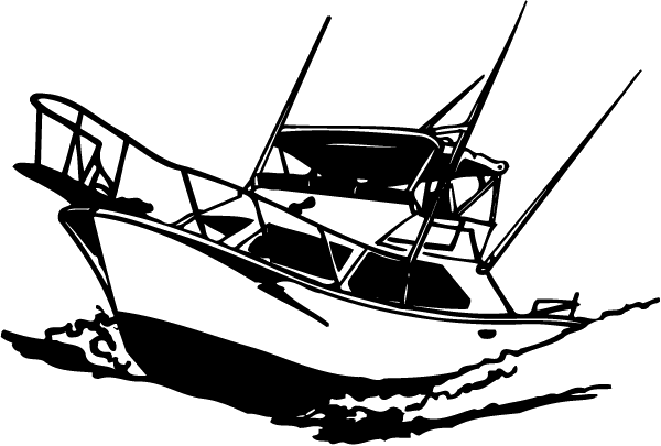 clip royalty free library Yacht clipart rescue boat. Marlin decal