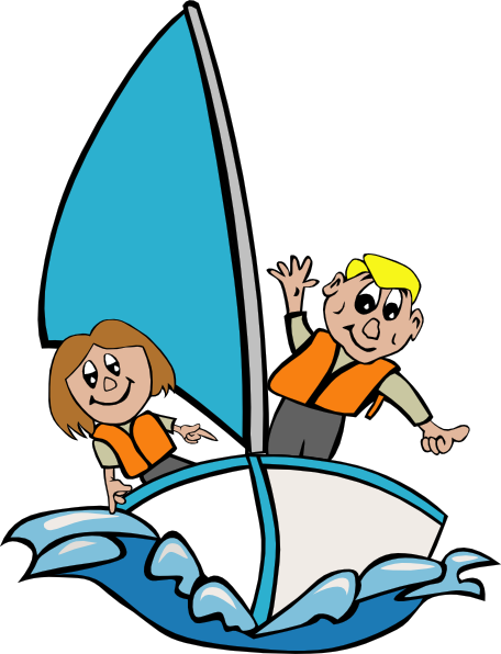free Sailboat with kids clip. Yacht clipart rescue boat