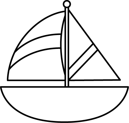 vector freeuse library Clip art images black. Yacht clipart sailboat