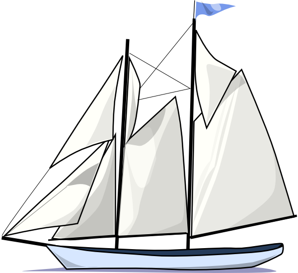 vector library Boat sail sideways clip. Yacht clipart sailboat sunset
