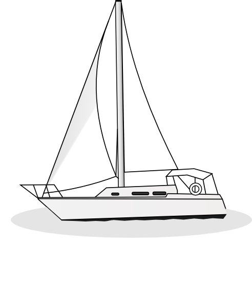 clip art royalty free download Yacht clipart sailboat sunset. Outline clip art at