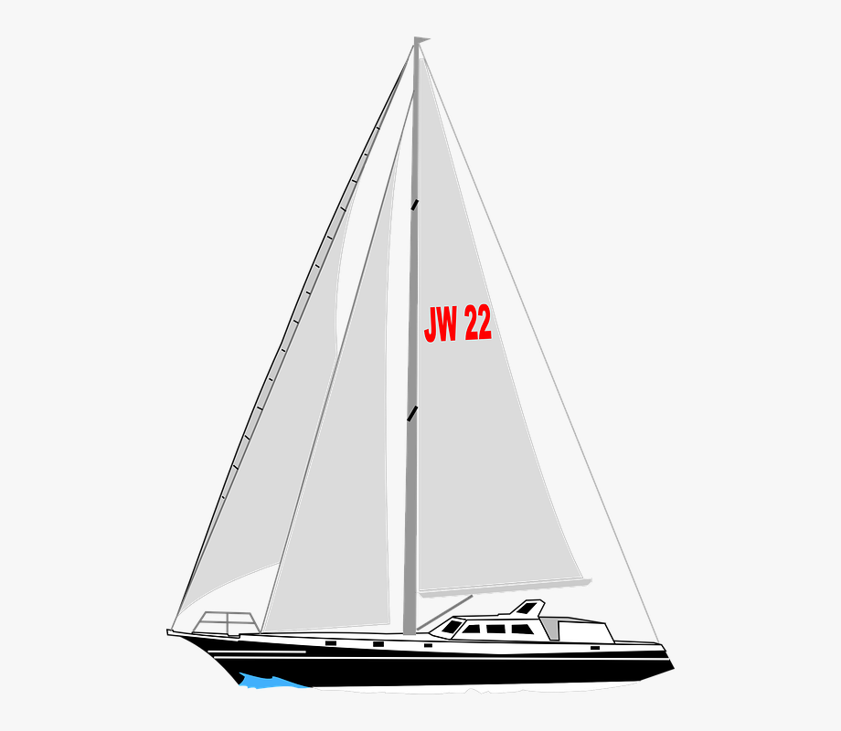 clip art free download Sailboat boat sail water. Yacht clipart sailing