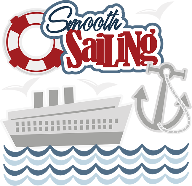 banner black and white Smooth sailing. Yacht clipart sale boat