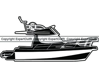 image royalty free download Motorboat card etsy . Yacht clipart saltwater fishing