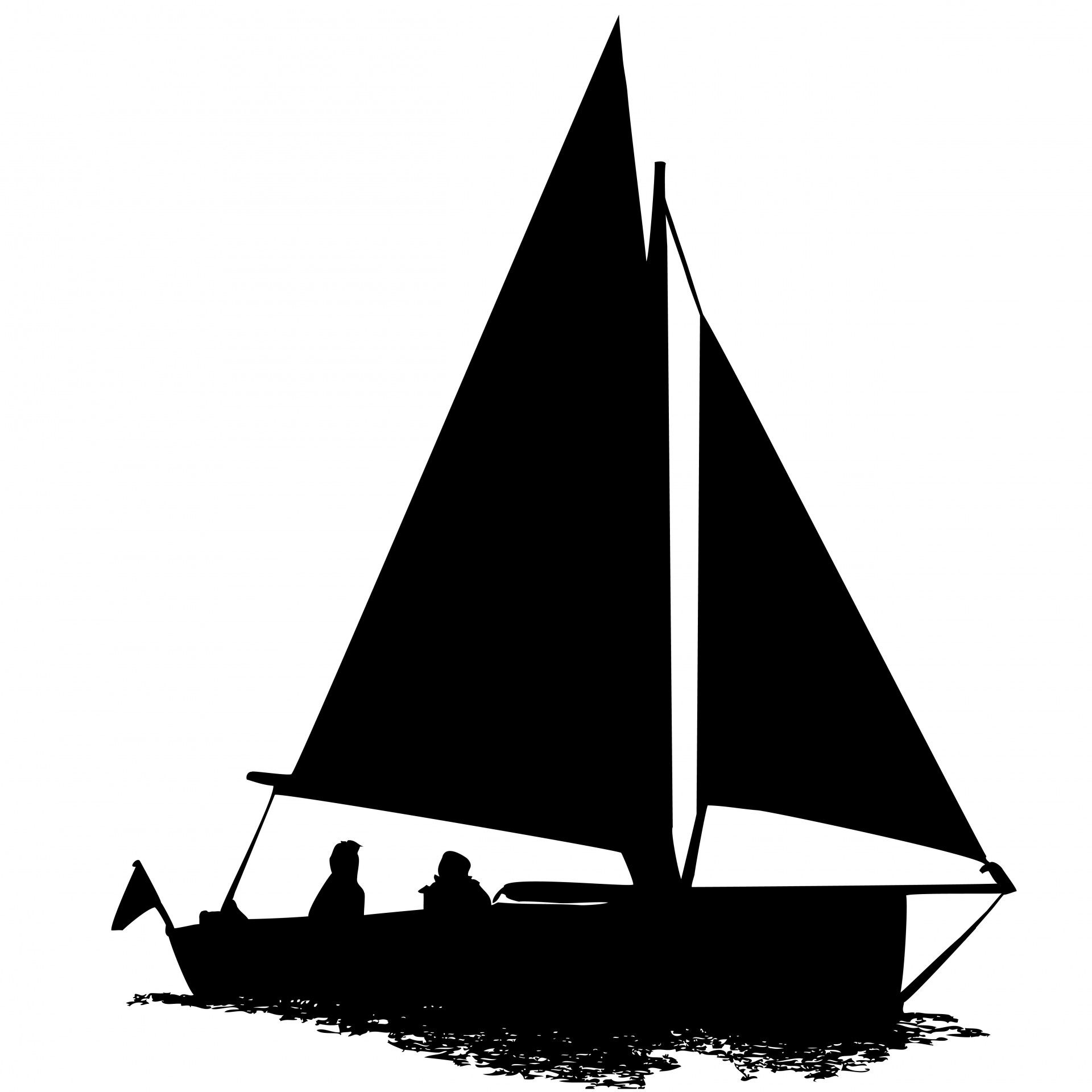 image library library Sailing boat drawing in. Yacht clipart silhouette
