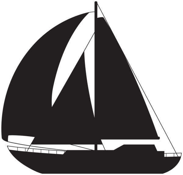 png library Yacht clipart silhouette. Simple sailboat ilug cal