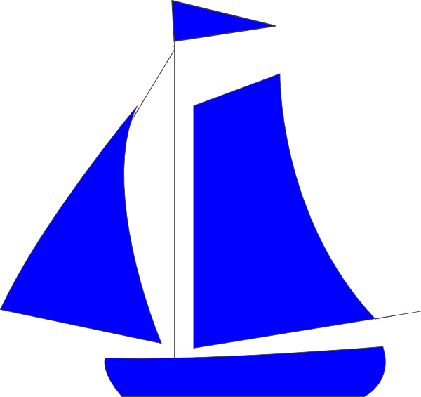 clip art transparent library Yacht clipart simple boat. Blue sailboat free download