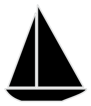 svg freeuse Yacht clipart simple boat. Outline downloads