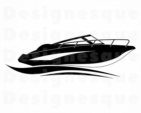 picture library stock Yacht clipart ski boat. Speed svg motor files