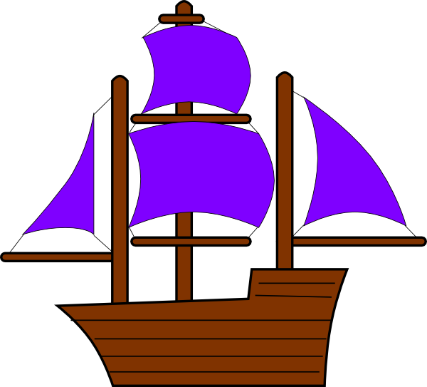 svg freeuse library Purple pencil and in. Yacht clipart toy sailboat