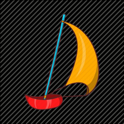 jpg transparent download Cartoon sail ship sign. Yacht clipart toy sailboat