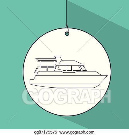 jpg free library Vector art boat transport. Yacht clipart transportation