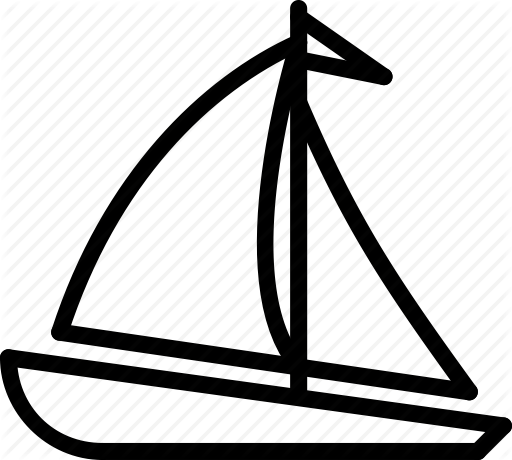 clip art free stock Yacht clipart triangle. Transport outline collection by