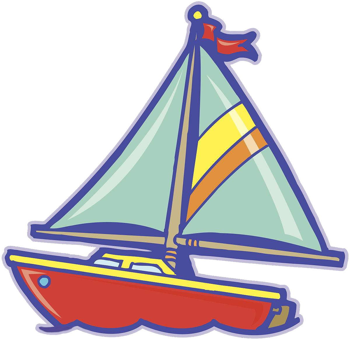 png royalty free stock Yacht clipart triangle. Sailboat sailing ship cartoon