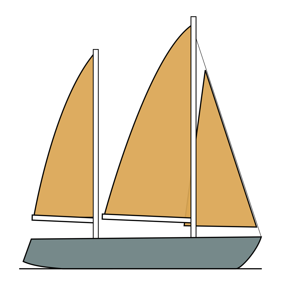 svg royalty free library Yacht clipart vinta. Ketch wikipedia