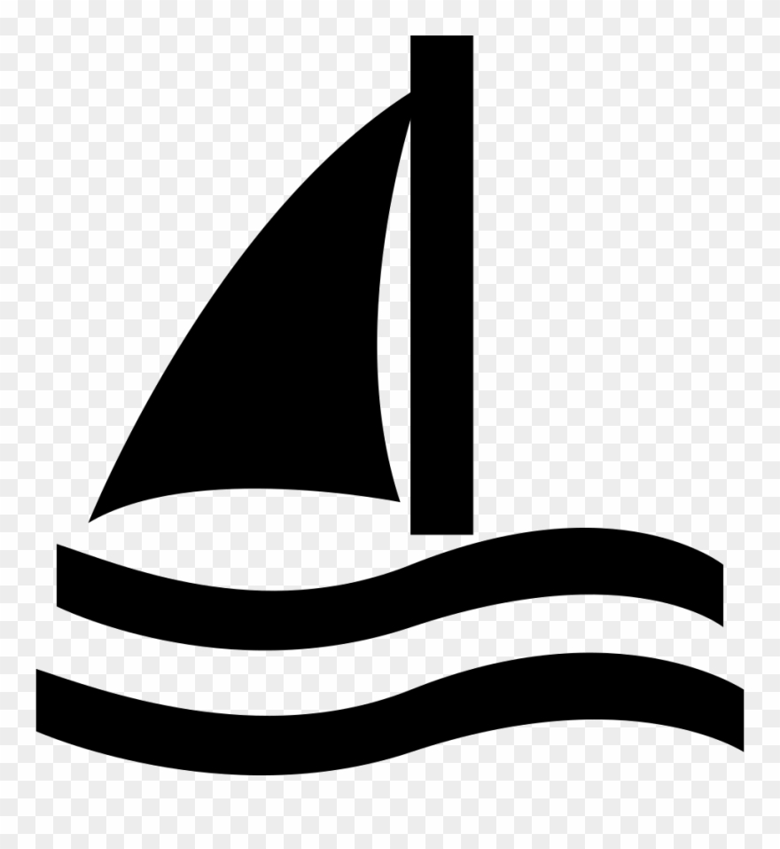 picture black and white library Yacht clipart waterways. Sailboat png download