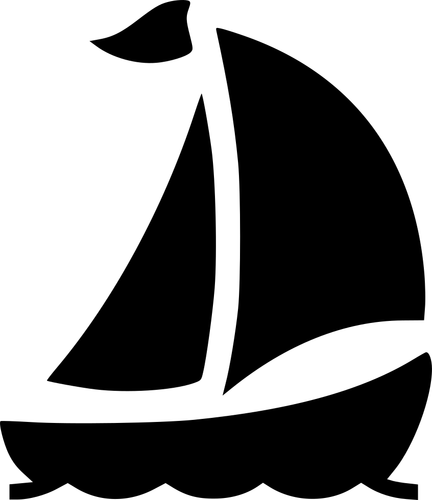 clip art royalty free library Boat svg black and white. Ship yacht sail travel