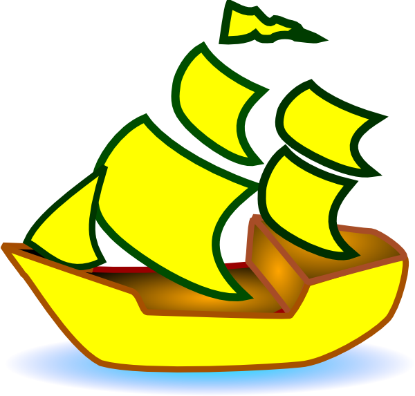 graphic black and white Clip art at clker. Yacht clipart yellow boat