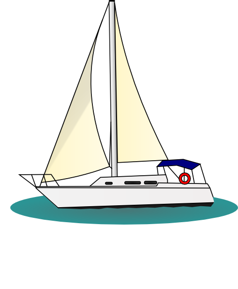 svg library stock Free . Yacht clipart