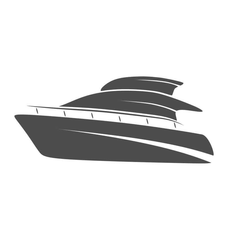 vector stock Free yacht logo design. Vector boat black and white