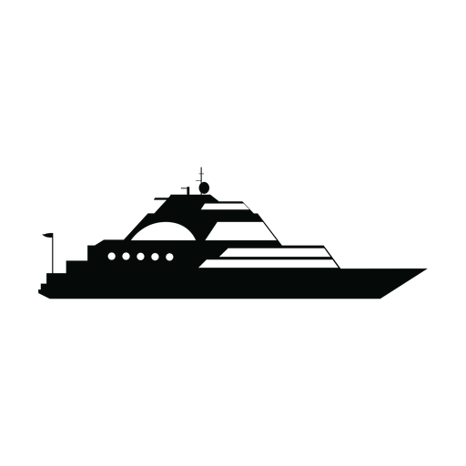 transparent library Boat svg silhouette. Luxury sailing yacht ship