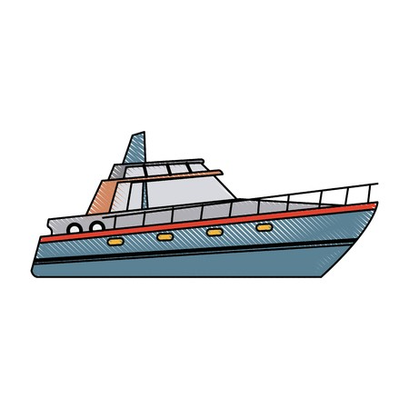 free library boat tourist yacht to travel by sea transport vector