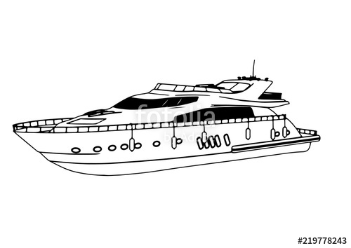 banner library download sketch of a yacht vector
