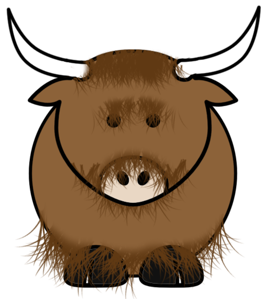 svg free download yak cartoon