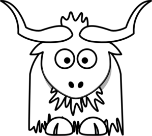clipart royalty free stock Yak Outline PNG