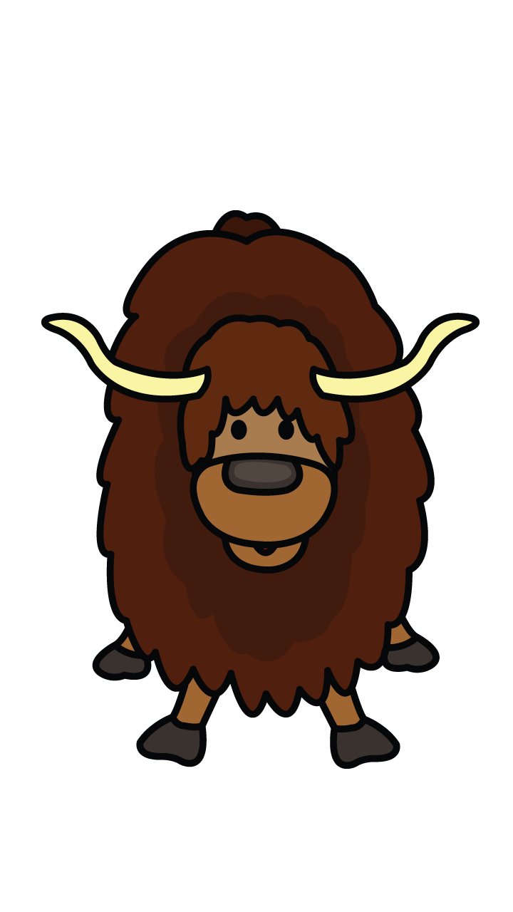 clipart library library How to Draw a Yak
