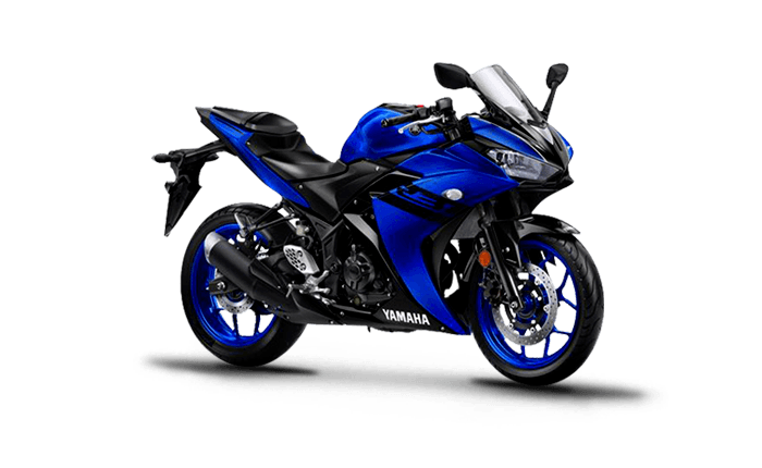 black and white stock Yamaha YZF R