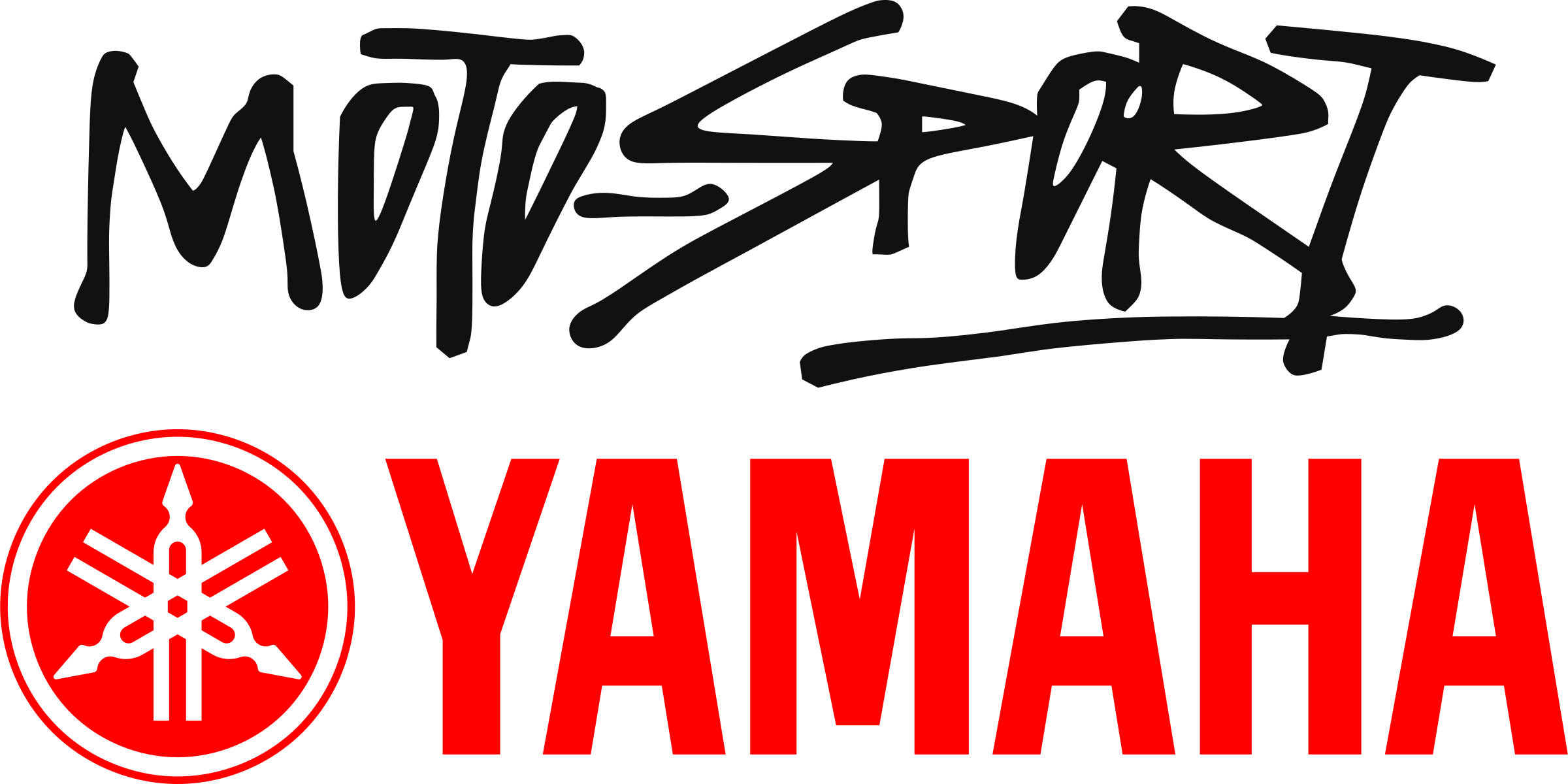 image black and white library Motosport Yamaha Logo PNG Transparent