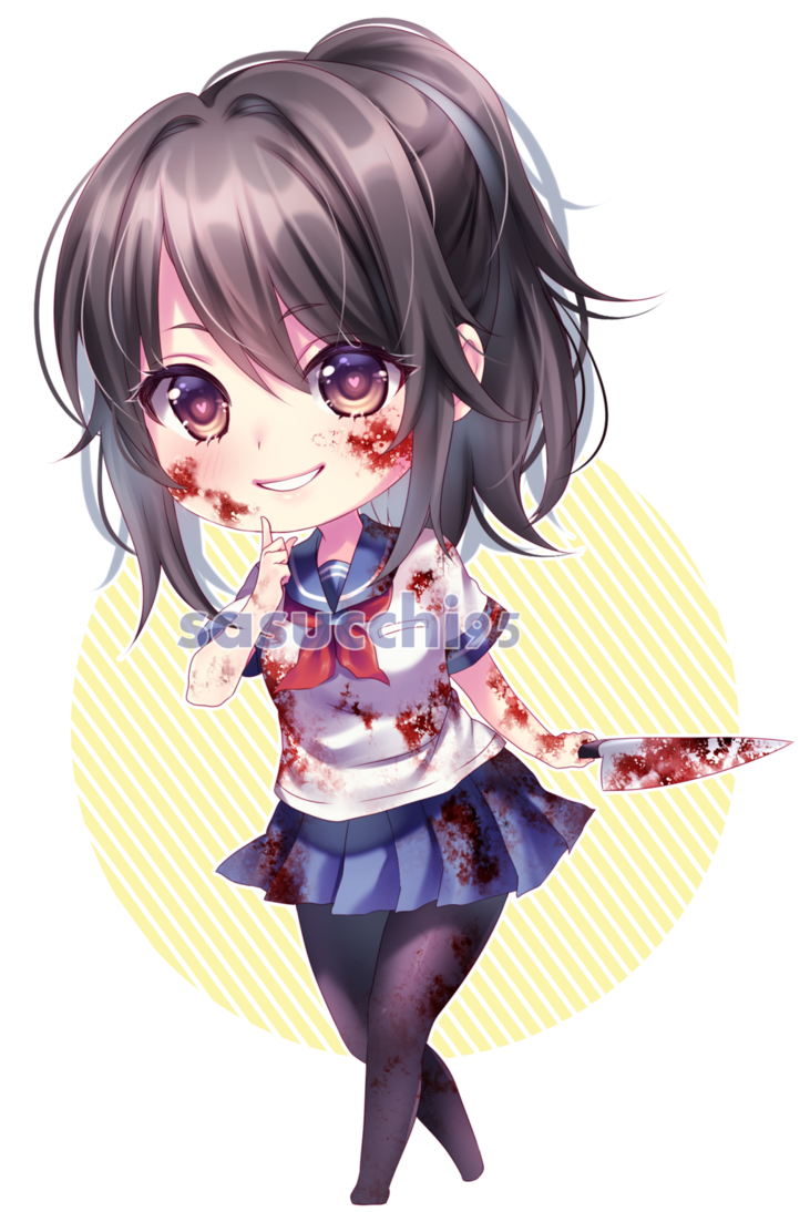 clip royalty free library Chibi yandere chan by sasucchi