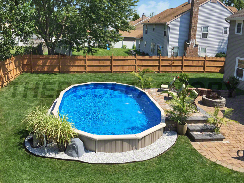picture transparent library Yard clipart above ground pool. Landscaping around your clip.