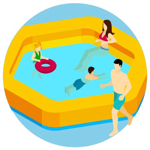 clipart free stock Yard clipart above ground pool. Private swimming pools city.