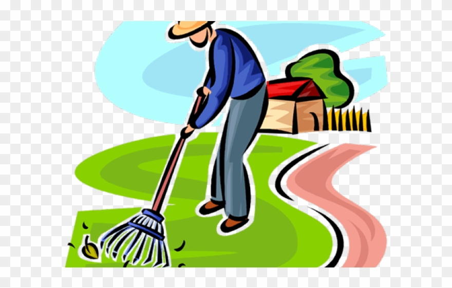 png freeuse library Man gardening png transparent. Yard clipart cleaning
