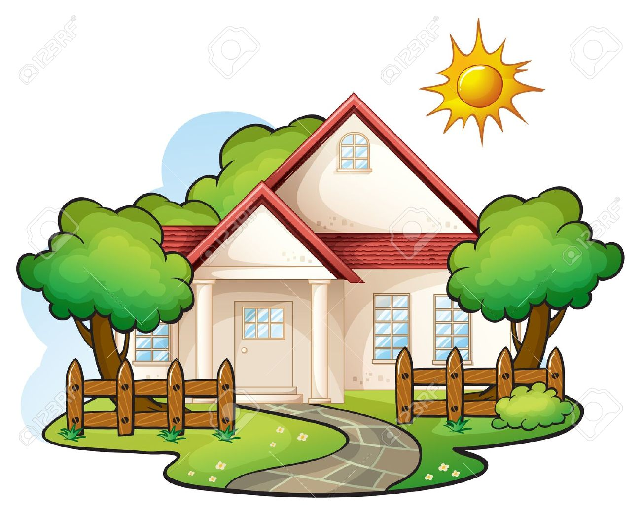 clipart transparent download Yard clipart cute cottage. Collection of free download.