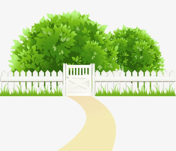 clip transparent library Cartoon green background backyard. Yard clipart grassy path
