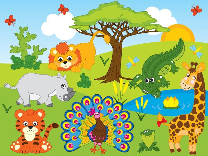 banner  off sale jungle. Yard clipart safari.