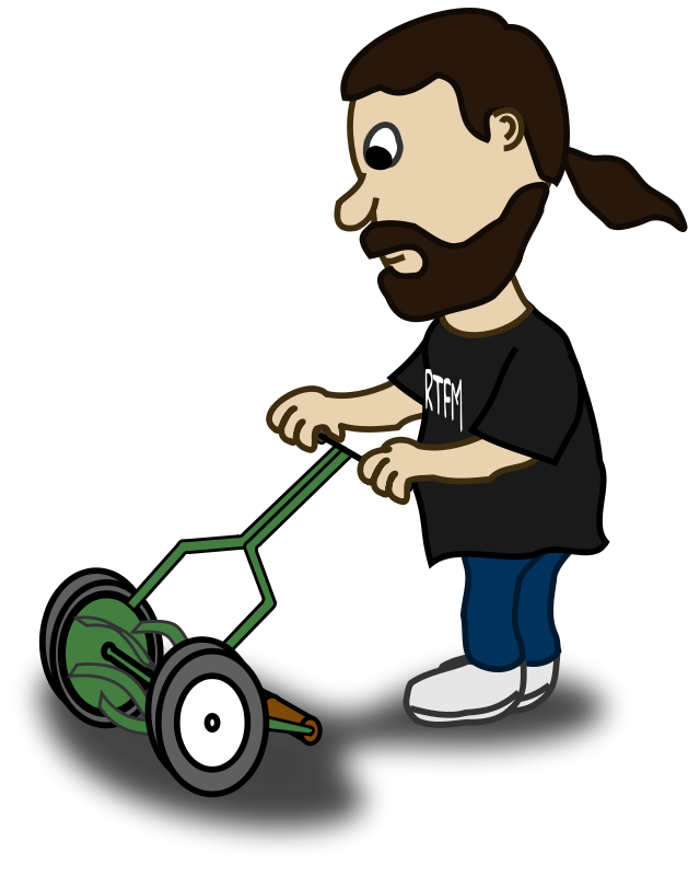 black and white Yard work clipart. Services lawn maintenance