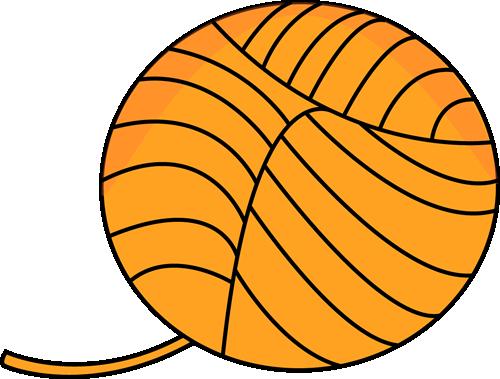 vector transparent Yarn clipart. Clip art orange ball