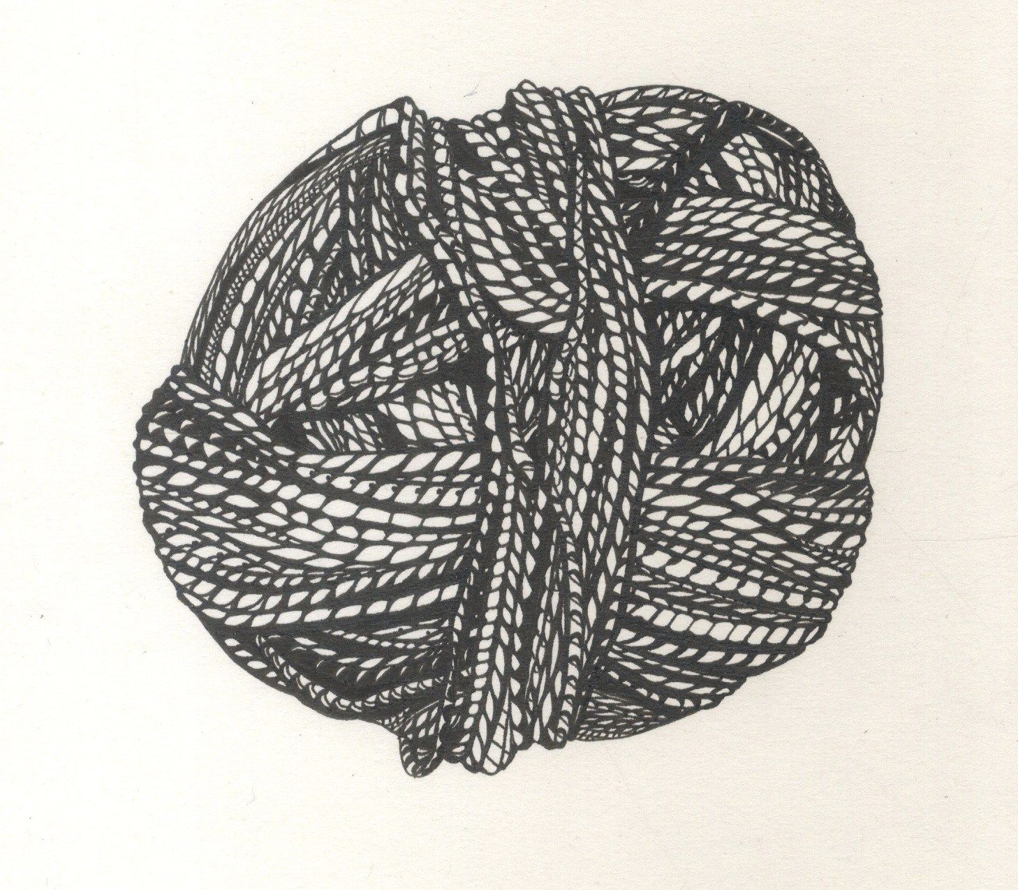 freeuse Drawing of silk yarn