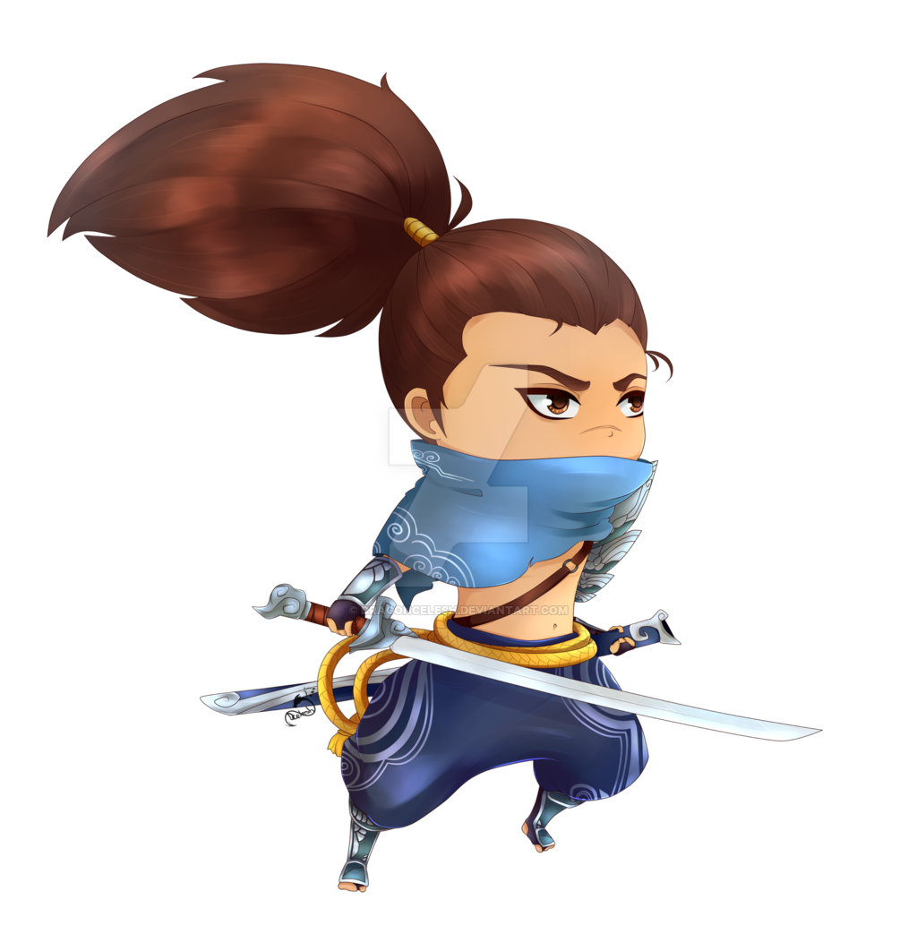 black and white download Chibi Yasuo by DragonCelesh on DeviantArt
