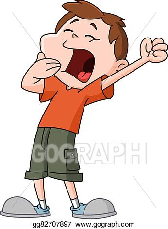 svg stock Yawn clipart. Eps vector kid stock