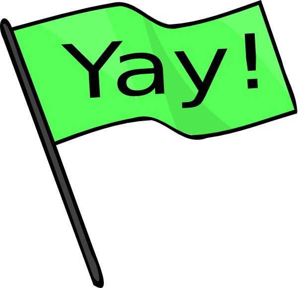 clipart transparent stock Yay Green Flag Clip Art at Clker
