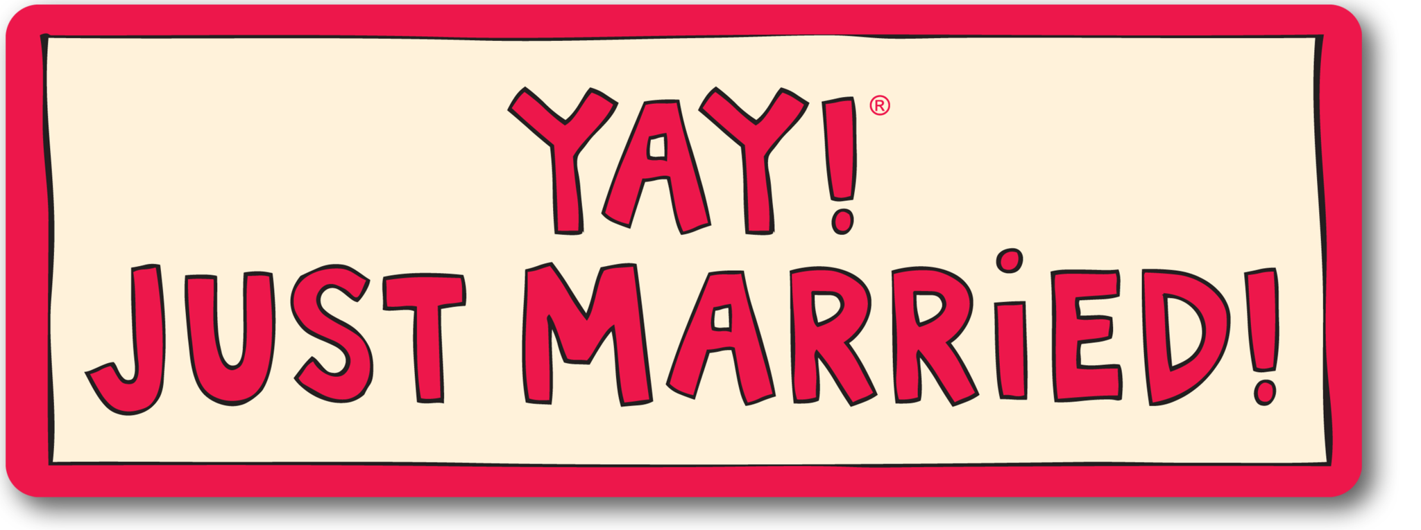 svg library download Just married magnet . Yay clipart happily