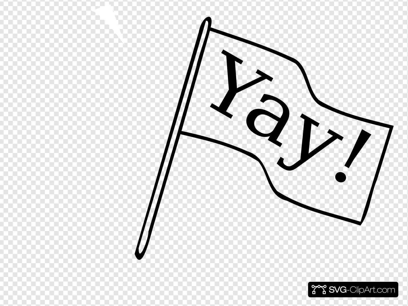 svg library library Yay clipart outline. Flag with clip art