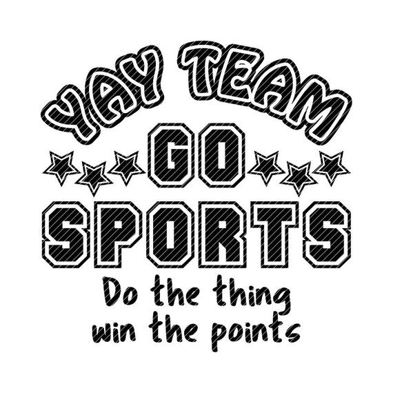 picture download Team go sports fan. Yay clipart outline