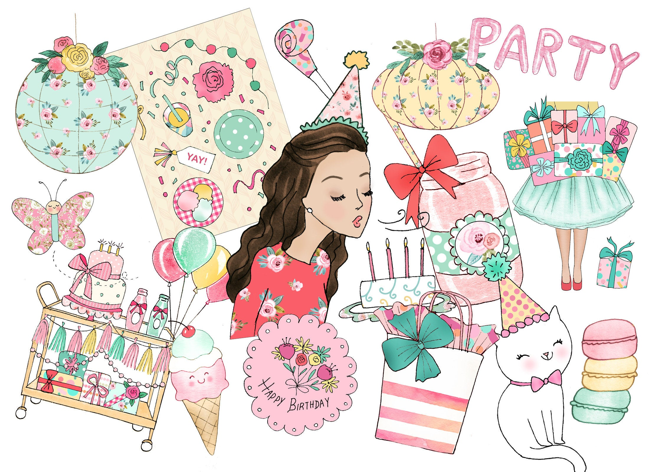 picture freeuse download Birthday party planner girl. Yay clipart satisfied customer